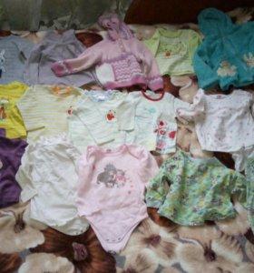 Вещи на девочку от 9мес до 2лет