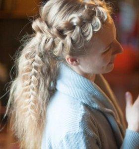 Плетение кос,детские косы, причёски.