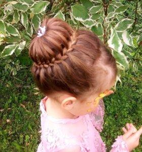 Плетение кос, свадебные причёски.