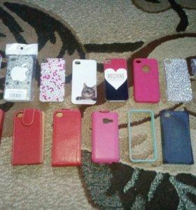 Чехлы,накладки на Айфон 4(новые 15 шт)Все за 500