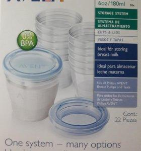 Контейнеры AVENT для хранения грудного молока