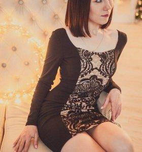 Платье новое с пайетками