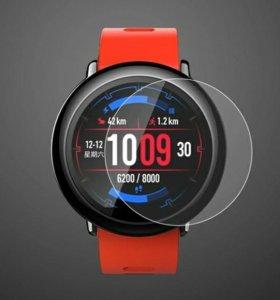 Защитное стекло 2,5D на часы Huami Amazfit Pace