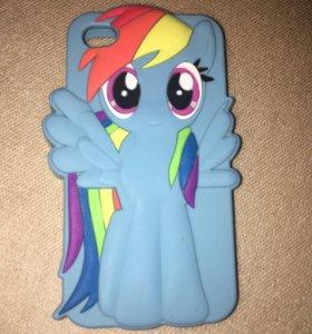 iPhone 4/4s my little pony чехол