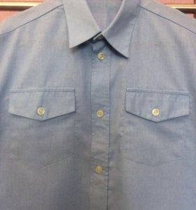 Рубашка голубая Рост 146