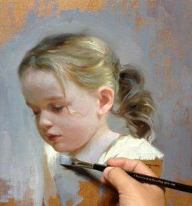 Портрет маслом картины копии