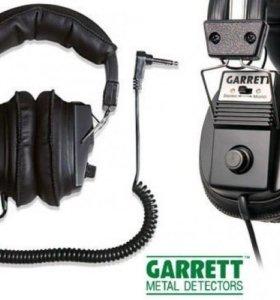 Наушники Garrett (моно/стерео) витой провод б/у