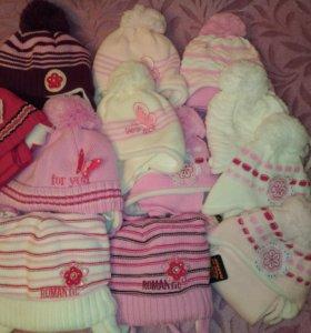 Новые шапки для девочек