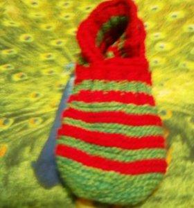 Вязан.тапочки
