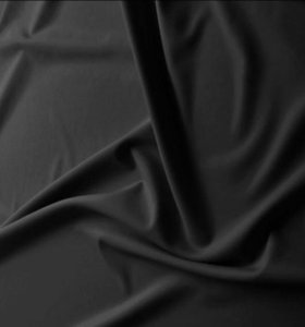Ткань бифлекс чёрный матовый