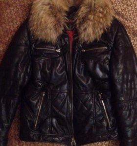 Зимняя Кожаная куртка Kati klaime