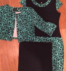 Платье с накидкой новое р 50