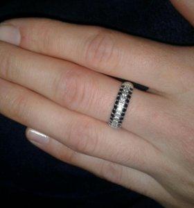 Кольцо серебряное. 17 размер