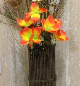 Искусственная цветочная композиция