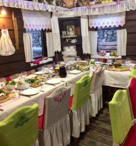 Ресторан Карельская усадьба на берегу реки Шуя