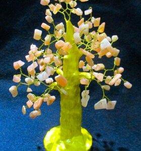 Солнечное дерево с натуральными камнями