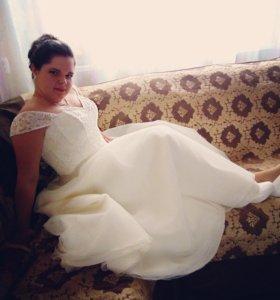 Шикарное сводебное платье