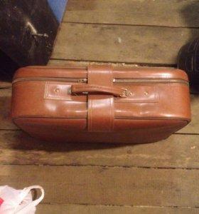 Кожаный чемодан СССР отличное сост