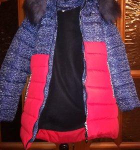 Куртка удлененная зимняя