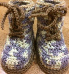 Детские пинетки-ботиночки