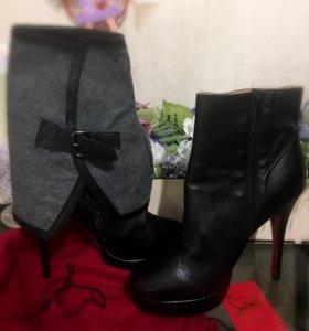 Ботинки кожаные Christian Louboutin