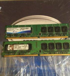 Оперативная память для ddr2 две планки на 3gb