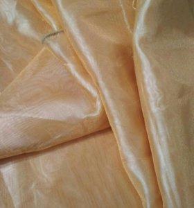 Ткань атласная, клеевая и органза