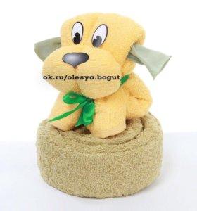 Наборы махровых полотенец «Собачка»