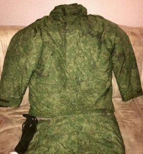 Куртка утеплённая (бушлат) с ватными штанами