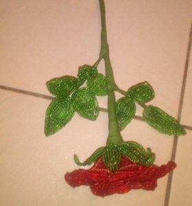 Шикарные розы из бисера
