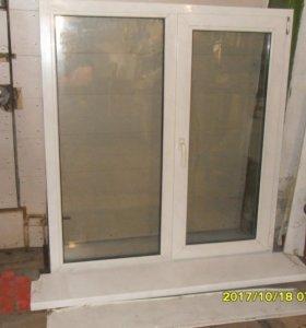 Пластиковое окно Trokal M5, двухстворчатое. Новое