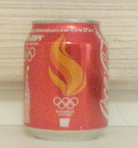 Банка coca-cola Сочи 2014 с огнём.