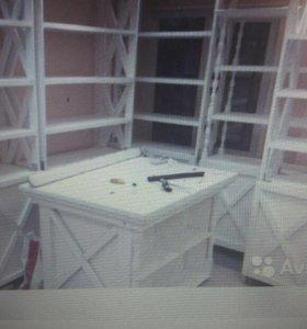 Мебель для дома и для бизнеса. Стол, стеллажи,шкаф