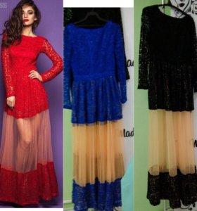 Шикарное платье 42-44-46 торг