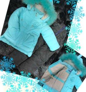 Зимняя курточка с полукомбинезоном