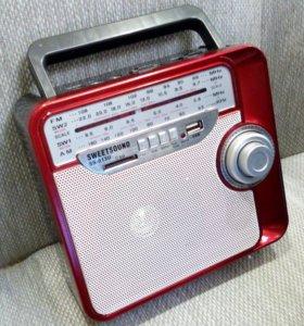 Радиоприемник громкий с USB