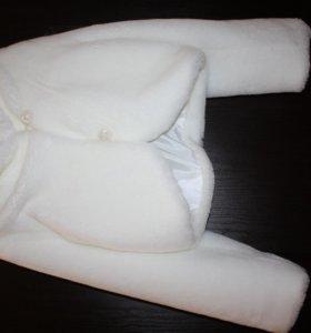 Шубка белая искусственный мех