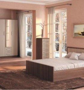 Кровать 160 ясень с матрасом.