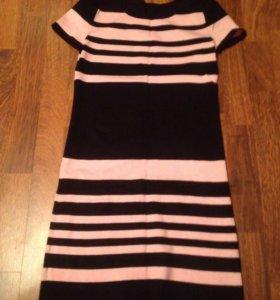 Платье черное с розовым
