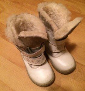 Зимние сапожки для девочки 24 размер