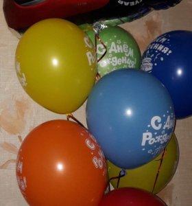 Воздушные шары с гелием, Светящиеся шарики.