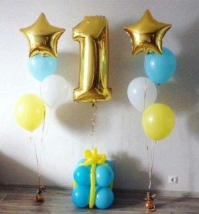Воздушные шары, фигуры, оформление торжеств