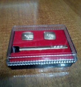 Запонки с зажимом для галстука