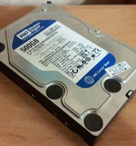 Жесткий диск Hdd sata 500gb Wd blue