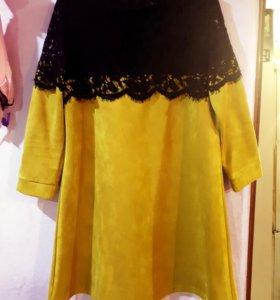 Платье замшевое 48-50