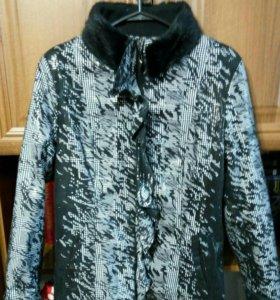 Новая куртка с норковым мехом 44-46р