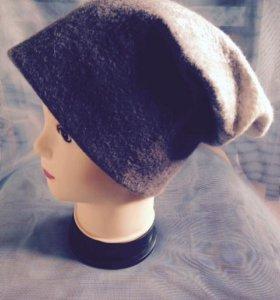 Модная шапка, валяная