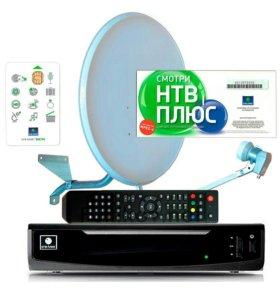 Ресивер триколор.нтв+HD комплект спутниковый