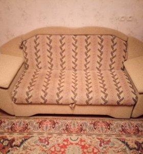Диван кровать двухместный с раскладным механизмом