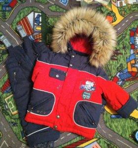 Зимний костюм+комбез, сапожки,мех.тапочки,краги